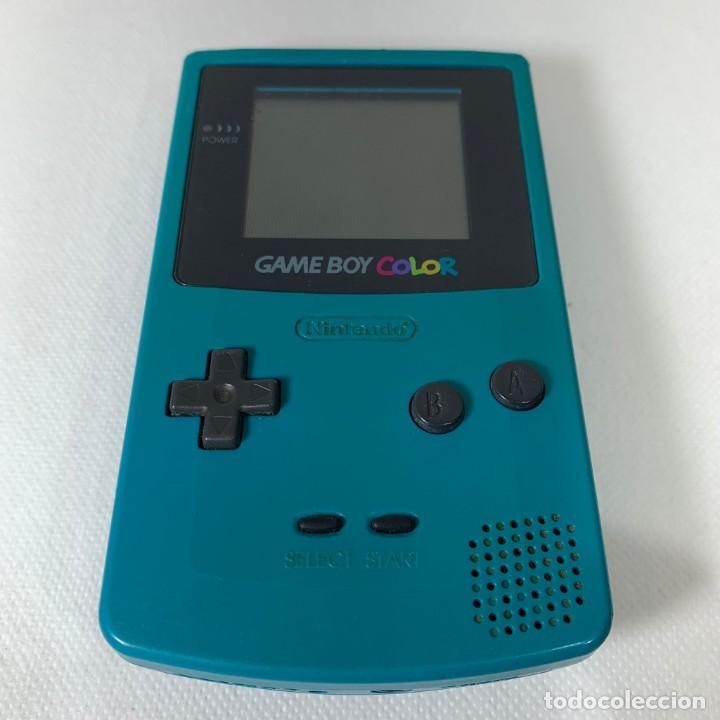 CONSOLA GAME BOY COLOR - AZUL TURQUESA - FUNCIONA (Juguetes - Videojuegos y Consolas - Nintendo - GameBoy Color)