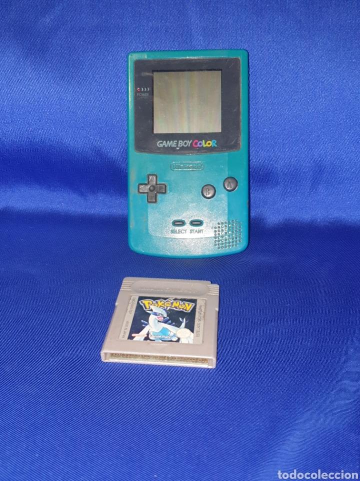 CONSOLA GAMEBOY COLOR SIN TAPA CON JUEGO POKÉMON SIN PROBAR .TAL CUAL COMO SE VE EN FOT (Juguetes - Videojuegos y Consolas - Nintendo - GameBoy Color)