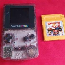 Videojuegos y Consolas: CONSOLA NINTENDO GAME BOY COLOR +JUEGO DONKEY KONG LAND III FUNCIONA. Lote 289709188