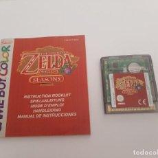 Jeux Vidéo et Consoles: GAME BOY COLOR . ZELDA ORACLE SEASONS. Lote 290634973