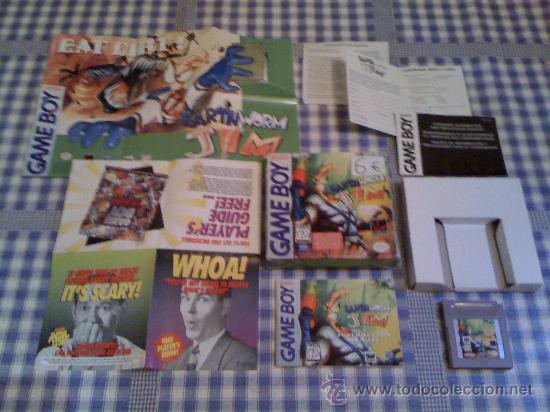 EARTHWORM JIM PARA LA NINTENDO GAMEBOY GAMEBOY JUEGO VIDEOJUEGO SALCEDUS_JVR SALCEDUS CON CAJA (Juguetes - Videojuegos y Consolas - Nintendo - GameBoy)