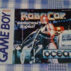 Videojuegos y Consolas: ROBOCOP INSTRUCCIONES DE JUEGO NINTENDO GAME BOY CLÁSICA GAMEBOY GB NGB - SALCEDUS_JVR. Lote 27186243