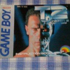 Videojuegos y Consolas: TERMINATOR 2 T2 INSTRUCCIONES DE JUEGO NINTENDO GAME BOY CLÁSICA GAMEBOY GB NGB - SALCEDUS_JVR. Lote 27186272