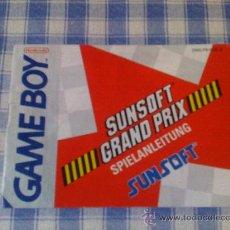 Videojuegos y Consolas: SUNSOFT GRAND PRIX INSTRUCCIONES DE JUEGO NINTENDO GAME BOY CLÁSICA GAMEBOY GB NGB - SALCEDUS_JVR. Lote 27186376