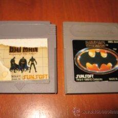 Videojuegos y Consolas: 2 JUEGOS BATMAN PARA GAMEBOY CLASICA. Lote 187448938