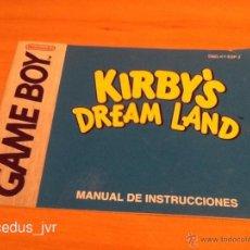 Videojuegos y Consolas: KIRBY'S DREAM LAND LIBRO MANUAL DE INSTRUCCIONES PARA NINTENDO GAMEBOY GAME BOY. Lote 41360312