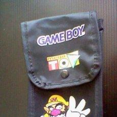 Videojuegos y Consolas: BOLSA PORTABLE GAME BOY TELA MEGA TOP WARIO USADA. Lote 44207032