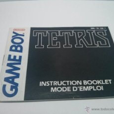 Videojuegos y Consolas: MANUAL INSTRUCCIONES GAME BOY - TETRIS (FRANCÉS) 1990. Lote 47797185