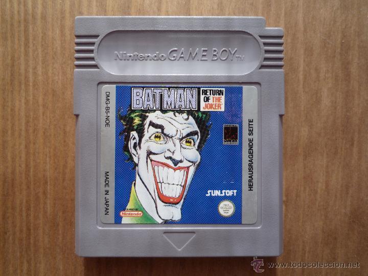 Batman Return Of The Joker Gameboy Solo Cartuc Sold Through