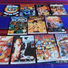 Videojuegos y Consolas: NINTENDO GAMEBOY 12 POSTALES MATUTANO. TERMINATOR 2 DR MARIO MEGA MAN KUN FU MASTER MICKEY'S CHASE... Lote 49938937