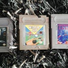 Videojuegos y Consolas: JUEGOS GAME BOY: TERMINATOR 2, NINTENDO WORLD CUP Y TETRIS (SOLO CARTUCHOS SIN CAJAS). Lote 111173283