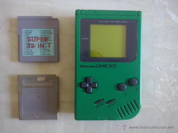 Game Boy Clasica Verde Con Juego 32 En 1 Mario Comprar