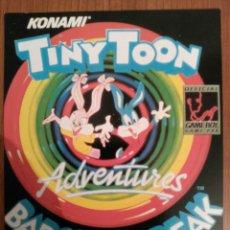 Videojuegos y Consolas: TARJETA, CROMO MATUTANO VIDEOJUEGO NINTENDO DE LOS 80 TINY TOON ADVENTURES BABS' BIG BREAK GAMEBOY. Lote 53625911