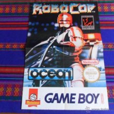 Videojuegos y Consolas: CARTEL ROBOCOP ORIGINAL GAME BOY PARK NINTENDO DE MATUTANO. 60X40 CMS. BUEN ESTADO Y RARO.. Lote 53858647