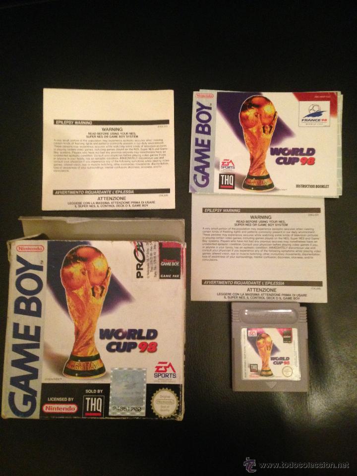 NINTENDO GAME BOY CLASICA WORLD CUP 98 PAL ESPAÑA COMPLETO MUY BUEN ESTADO (Juguetes - Videojuegos y Consolas - Nintendo - GameBoy)