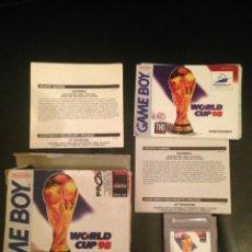 Videojuegos y Consolas: NINTENDO GAME BOY CLASICA WORLD CUP 98 PAL ESPAÑA COMPLETO MUY BUEN ESTADO. Lote 54622121