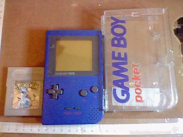 GAMEBOY POCKET GAME BOY AZUL + ESTUCHE + POKEMON SILVER PLATA FUNCIONANDO (Juguetes - Videojuegos y Consolas - Nintendo - GameBoy)