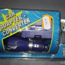Videojuegos y Consolas: 918- CAR ADAPTER - + CONVERTER GAME BOY ADVANCE - NEW - OLD STOCK. Lote 58507861