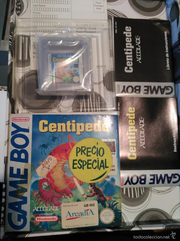 CENTIPEDE GAME BOY MANUAL CASTELLANO ARCADIA ACCOLADE NUEVO A ESTRENAR NEW (Juguetes - Videojuegos y Consolas - Nintendo - GameBoy)