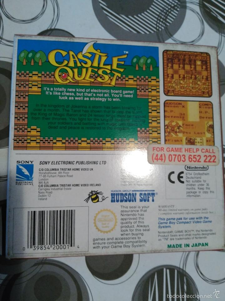 Videojuegos y Consolas: CASTLE QUEST HUDSON SOFT NUEVO A ESTRENAR HUDSON MANUAL EN CASTELLANO E INGLES ESPAÑOLIZADO Game boy - Foto 2 - 59640467