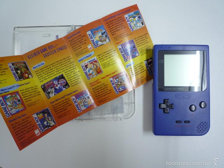Consola gameboy pocket color azul con caja de m - Sold
