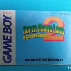 Videojuegos y Consolas: MANUAL DE INSTRUCCIONES GAME BOY SUPER MARIO LAND 2 - 6 GOLDEN COINS. Lote 67633041