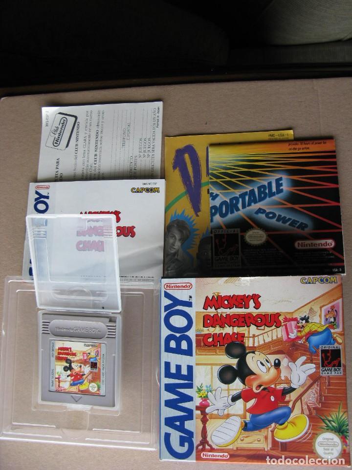 GAME BOY MICKEYS DANGEROUS CHASE (ORIGINAL COMPLETO) (Juguetes - Videojuegos y Consolas - Nintendo - GameBoy)