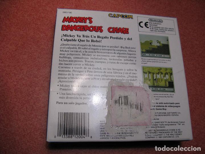 Videojuegos y Consolas: GAME BOY MICKEYS DANGEROUS CHASE (ORIGINAL COMPLETO) - Foto 2 - 68974777