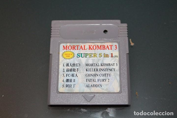 JUEGO SUPER 5 IN 1 PARA GAME BOY DMG MORTAL KOMBAT 3 KILLER INSTINCT NINTENDO (Juguetes - Videojuegos y Consolas - Nintendo - GameBoy)