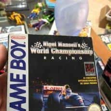 Videojuegos y Consolas: WORLD CHAMPIONSHIP RACING VERSION ESPAÑOLA EN CAJA PARA GAME BOY CLASICA. Lote 92204270