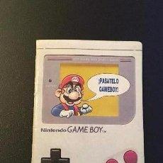 Videojuegos y Consolas: CATALOGO DE PUBLICIDAD DE LA NINTENDO GAME BOY DEL AÑO 1991 MUY BUEN ESTADO. Lote 102834951