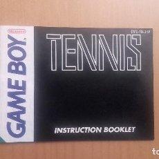Videojuegos y Consolas: MANUAL TENNIS GAME BOY . Lote 103849975