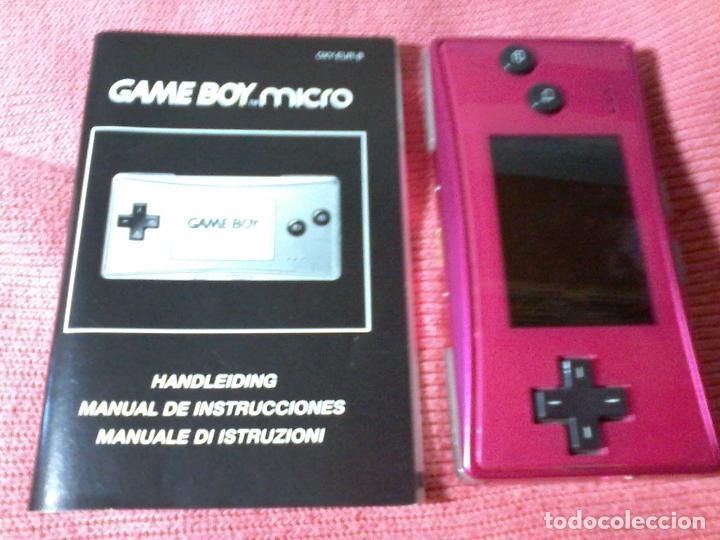 Videojuegos y Consolas: CONSOLA GAMEBOY GAME BOY MICRO MODEL ROSA - Foto 4 - 111696975