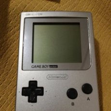Videojuegos y Consolas: NINTENDO GAME BOY GAMEBOY POCKET PLATA PLATEADA PRIMERA GENERACION. Lote 114797800