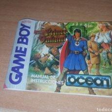 Videojuegos y Consolas: INSTRUCCIONES PRINCE VALIANT GAME BOY NINTENDO GAMEBOY. Lote 114840114