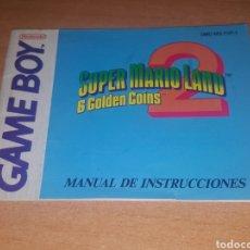 Videojuegos y Consolas: MANUAL DE INSTRUCCIONES SUPER MARIO LAND 2 GAME BOY NINTENDO ERBE. Lote 114840428