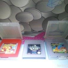 Videojuegos y Consolas: LOTE 3 JUEGOS GAME BOY POKEMON ROJO , LIBRO DE LA SELVA Y CASPER GAMEBOY. Lote 114867455