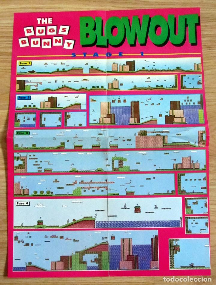 POSTER THE BUGS BUNNY BLOWOUT NINTENDO HOBBY CONSOLAS (Juguetes - Videojuegos y Consolas - Nintendo - GameBoy)
