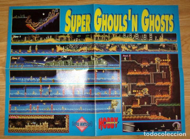 POSTER SUPER GHOULS´N GHOSTS NINTENDO HOBBY CONSOLAS MAPA VIDEOJUEGO (Juguetes - Videojuegos y Consolas - Nintendo - GameBoy)