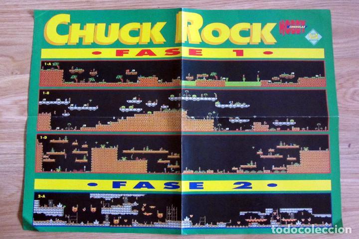 POSTER CHUCK ROCK CONSOLAS MAPA VIDEOJUEGO NINTENDO HOBBY CONSOLAS (Juguetes - Videojuegos y Consolas - Nintendo - GameBoy)