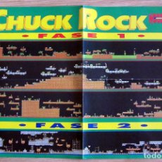 Videojuegos y Consolas: POSTER CHUCK ROCK CONSOLAS MAPA VIDEOJUEGO NINTENDO HOBBY CONSOLAS. Lote 118780671