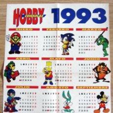 Videojuegos y Consolas: POSTER HOBBY CONSOLAS VIDEO JUEGO CALENDARIO AÑO 1993. Lote 118780807