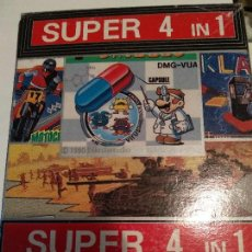 Videojuegos y Consolas: GAME BOY SUPER 4 IN 1 - DR MARIO - KLAX - BATTLE CITY - MOTOCROSS MANIACS. Lote 121101983
