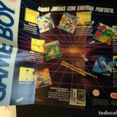 Videojogos e Consolas: FOLLETO NINTENDO GAME BOY 1990 PUBLICIDAD NUEVO DE CAJA. Lote 121533271