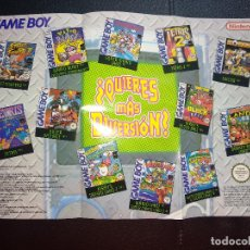 Videojuegos y Consolas: FOLLETO NINTENDO GAMEBOY PUBLICIDAD 1996 TETRIS STREET FIGHTER KILLER INSTINCT WARIO LAND ETC. Lote 121533659