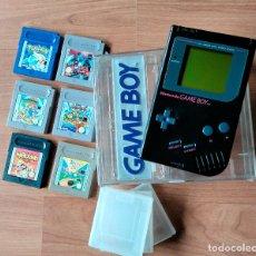 Videojuegos y Consolas: GAME BOY EDICIÓN ESPECIAL NEGRA + CAJA + 6 JUEGOS + 3 FUNDAS. Lote 122736807