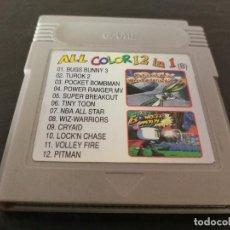 Videojuegos y Consolas: CARTUCHO CLONICO GAME BOY ALL COLOR 12 IN 1. Lote 126484043