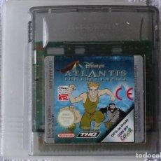 Videojuegos y Consolas: JUEGO PARA NINTENDO GAME BOY - ATLANTIS DISNEY + FUNDA. Lote 129532131