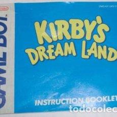 Videojuegos y Consolas: INSTRUCCIONES EN CASTELLANO DE KIRBY'S DREAM LAND, DE NINTENDO GAME BOY. Lote 129732523