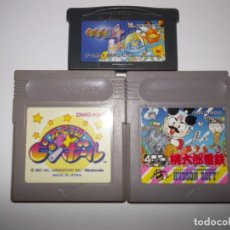 Videojuegos y Consolas: GAMEBOY LOTE SUPER MOMOTAROU DENSETSU, KIRBY PINBALL Y KURUKURU KURURIN GBA. Lote 130608762